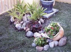 Jardins Com Pedras Flores E Plantas Decoração