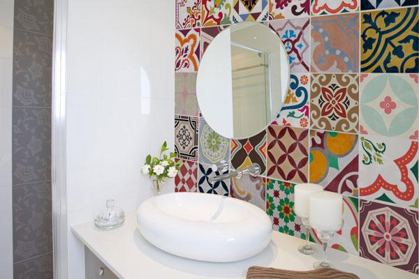 Adesivo Flor De Hibisco ~ Azulejo em Adesivo para Banheiro Pastilhas e Revestimento Construdeia