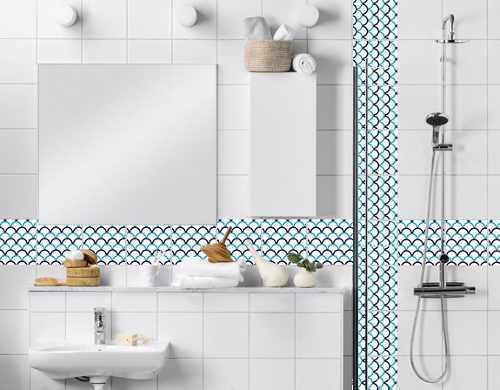 Artesanato Estilo Vintage ~ Gabinete Para Banheiro Adesivo para azulejo de banheiro