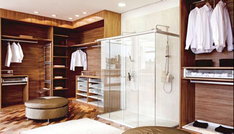 Quarto com closet integrado