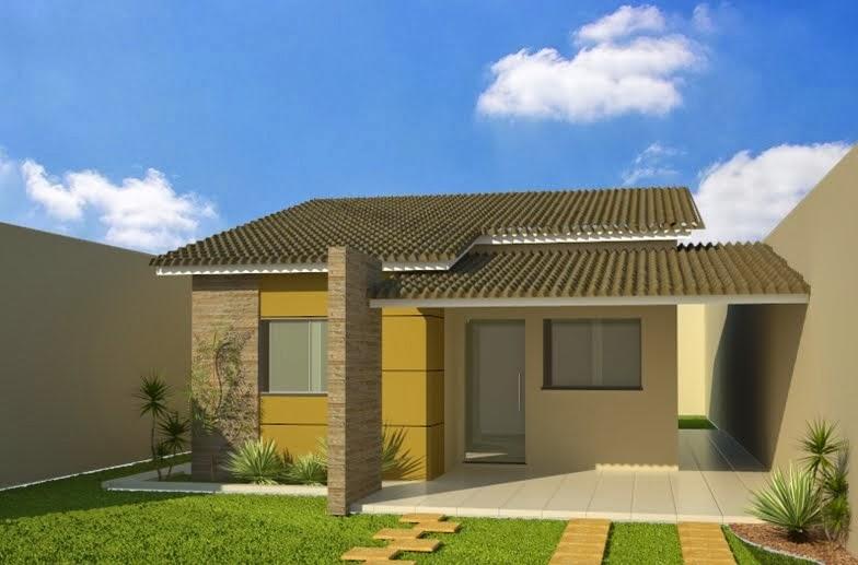 Casas lindas e pequenas construir e decorar for Ver jardines de casas pequenas