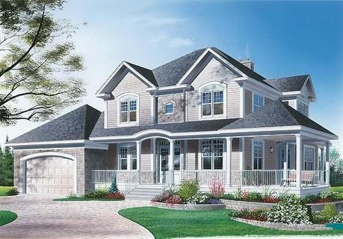 Casas americana de madeira plantas e modelos - Casas tipo americano ...