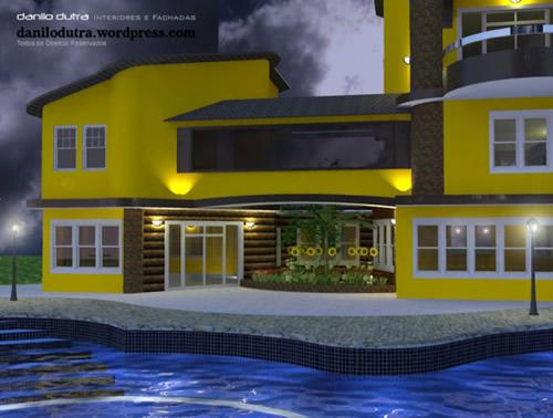 Casas pintadas de amarelo cores e tintas - Fachadas de casas pintadas ...