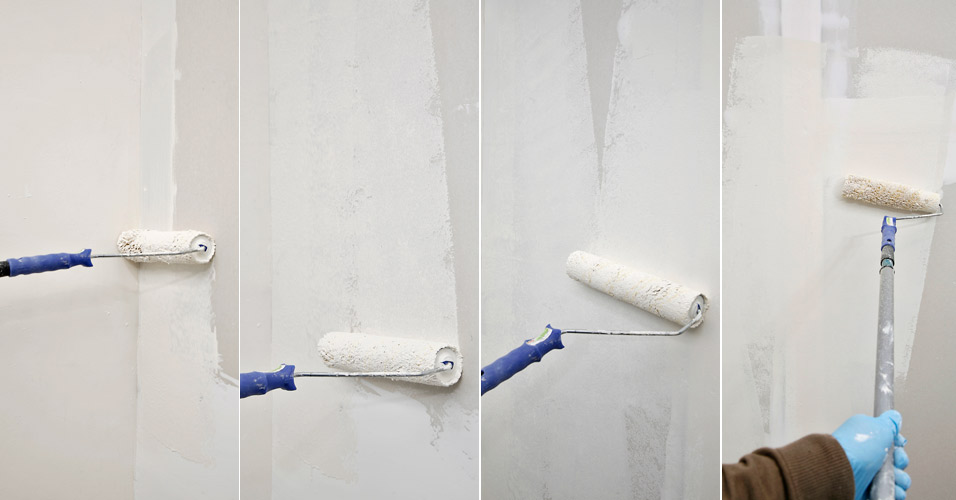 Como pintar uma parede tinta e pintor construdeia for Como pintar puertas de sapeli
