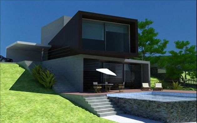 Constru o de casas modernas for Casa moderna baratas