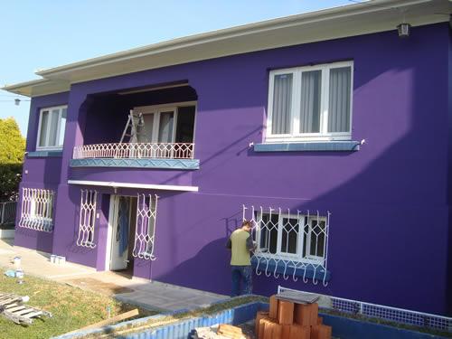Cores para parede externa tinta e fachada - Simulador pintura casa ...