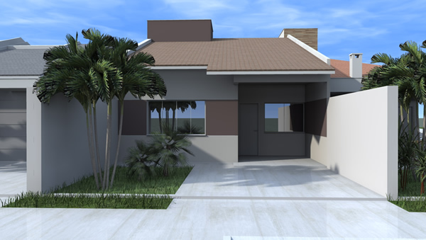 Fachada de casas geminadas projetos e modernas for Modelos de fachadas para frentes de casas
