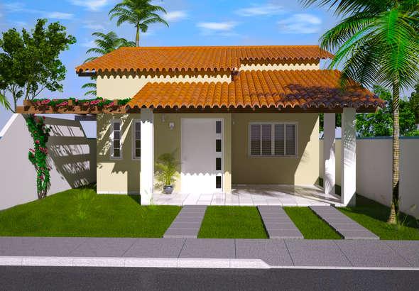 Fachada de casa pequena for Modelos de fachadas para casas pequenas