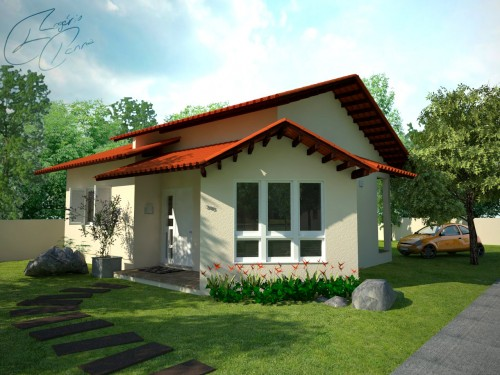 Fachada simples de casas modelos e cores construdeia for Fachadas de casas bonitas y economicas