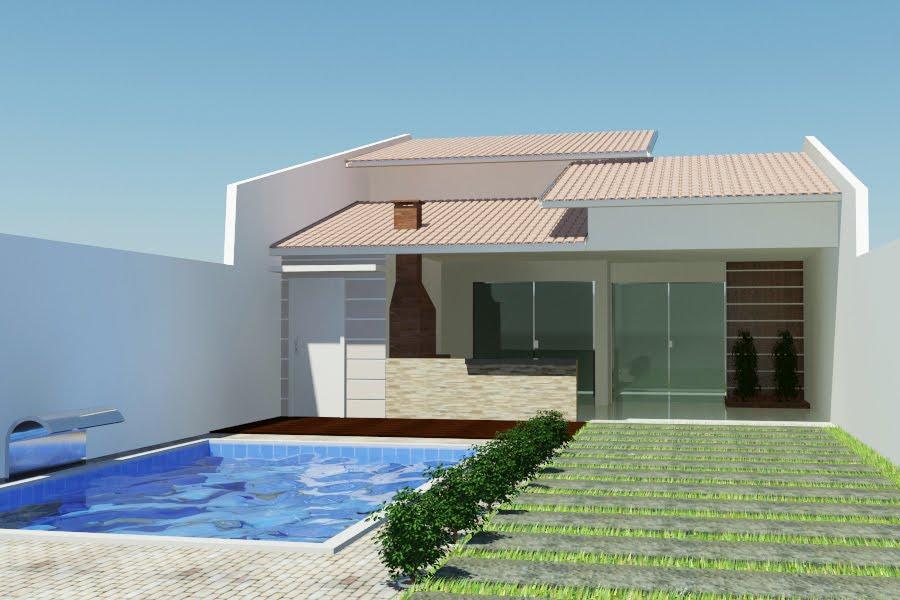 Fachadas de casas bonitas com telhados for Fachadas para residencias