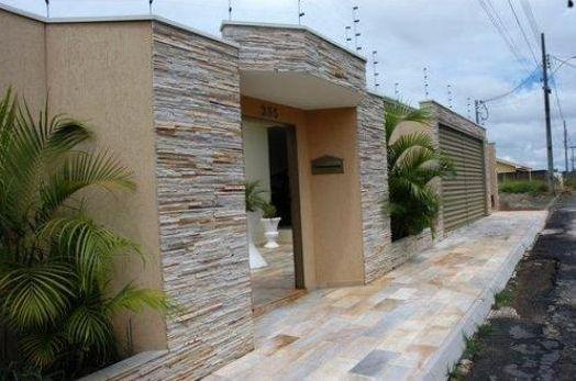 Frente de casas com cer mica pisos e pastilhas for Modelos fachadas para frente casa