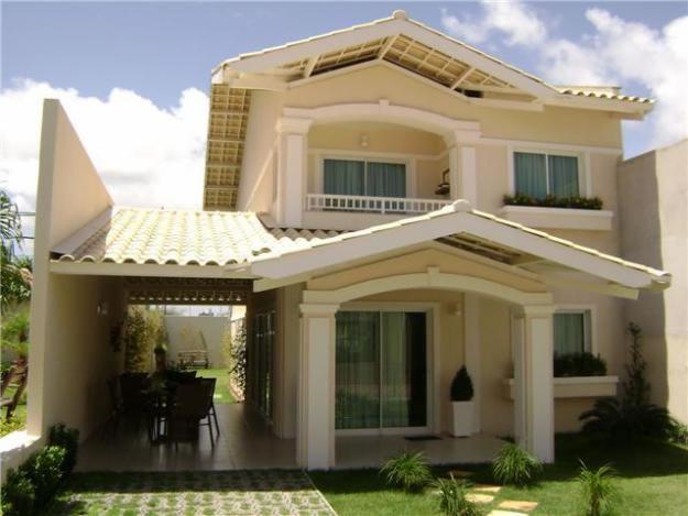 Id ias para fachada de casas plantas e projetos for Fachada de casas modernas con tejas
