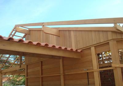 Madeira para acabamento de telhado