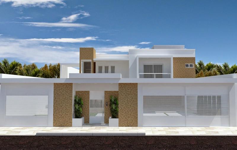 Modelos de muro simples para casas constru o e imagens for Modelos fachadas para frente casa