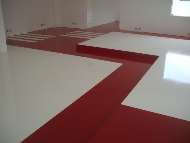 Pintura de pisos modernos cer mica e porcelanato construdeia - Pintura para mosaicos piso ...