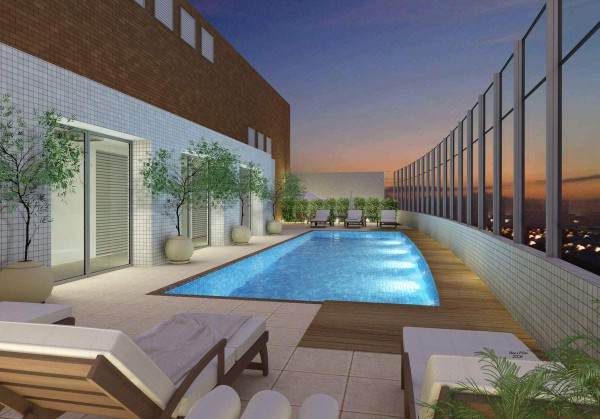 Piscina na cobertura concreto e casa construdeia for Cobertura piscina