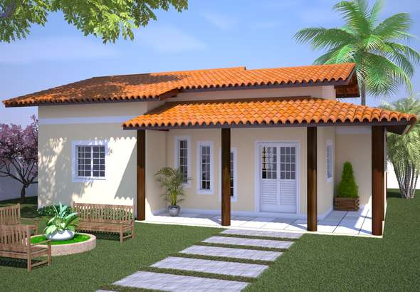 Plantas de casas com 3 quartos projeto e constru o for Fotos de casas modernas simples