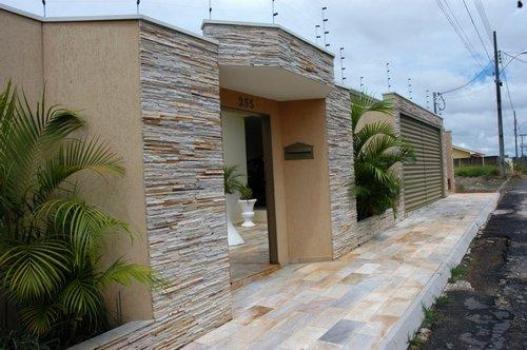 Revestimento externo cer mico fachada casa e constru o - Ceramica para fachadas casas ...