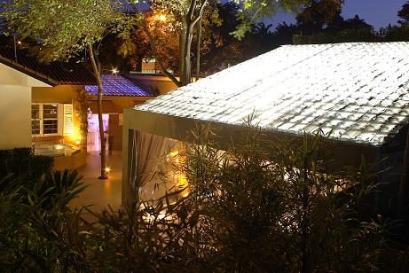Telhado com telha transparente