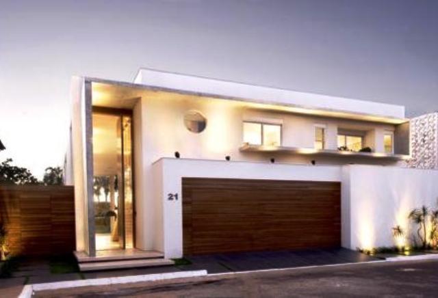 Telhado embutido Casas modernas y baratas
