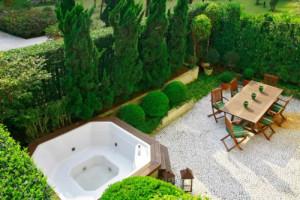 Jardim com Piso