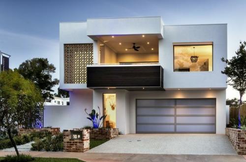 Casas com sacadas modernas for Fachadas minimalistas 2016