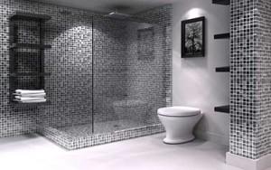 Banheiro com Pastilhas de Vidro