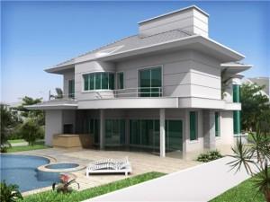 Casas com Sobrados Modernos